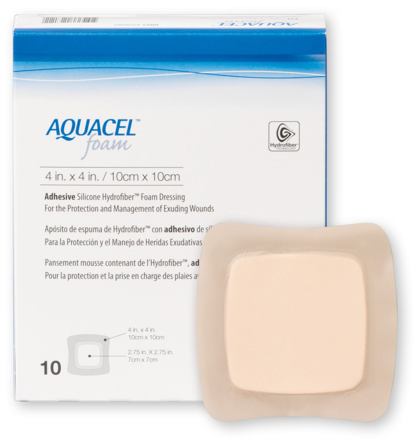 Aquacel Adhesive Foam Dressing, 5''x5''
