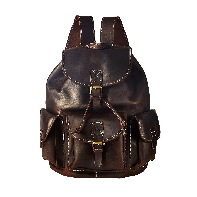 Mago Maga(魔術師) リュック メンズ 高級Crazy-horse leather バッグ 2018秋の新品 MSBP028  ブラウン B07GRT425P
