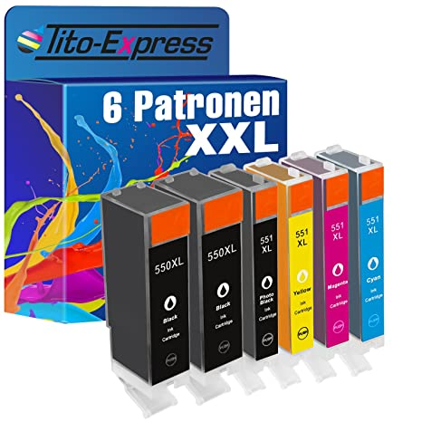 platinumserie - Juego de 6 cartuchos de tinta XXL para Canon PGI ...