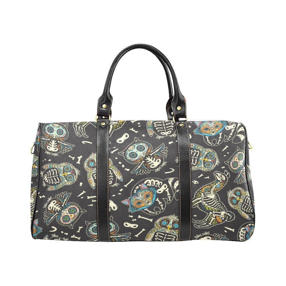 Waterproof Travel Duffel Bag Womens Weekend Bag Owl llama Mens Luggage Bag For Gym Sports Overnight Trip