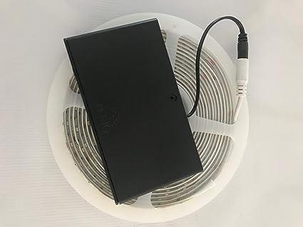 online-leds 5 m batteriebetrieben warm weiß LED Strip ...