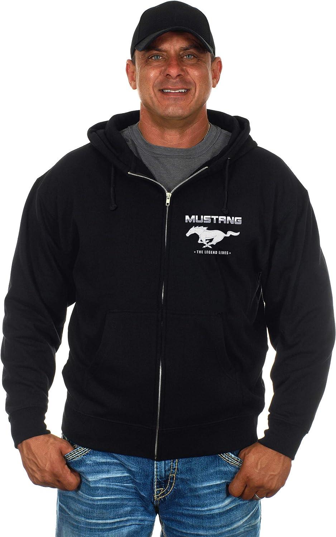 JH Design Ford Mustang Zip-up Hoodie /& Mustang T-Shirt Combo Gift Set for Men