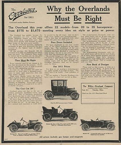 Amazon.com: 1911 Willys Overland Coupe Model 54 Toledo OH ...