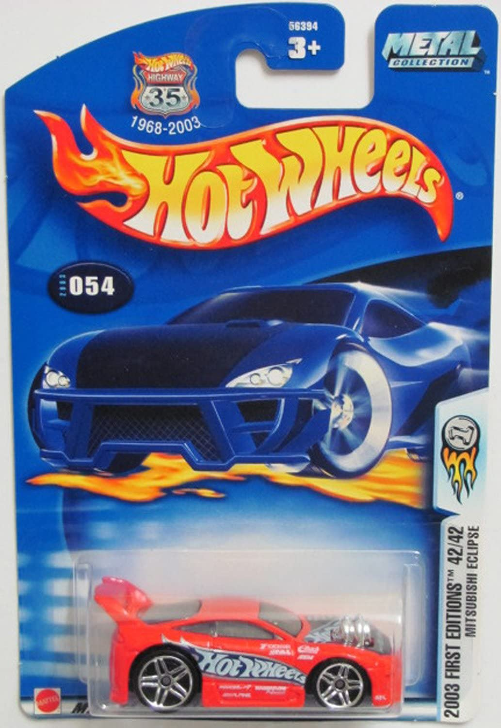 2003 Hot Wheels First Editions Mitsubishi Eclipse #54