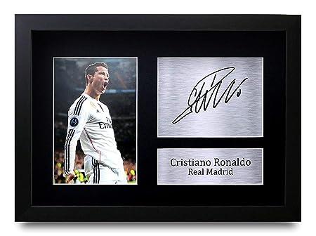 HWC Trading Cristiano Ronaldo A4 Enmarcado Regalo De Visualización ...