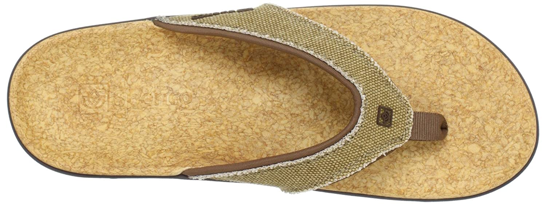 Spenco Herren Yumi / Flip Flop Sandale Straw / Yumi Java / Cork 43a6e1