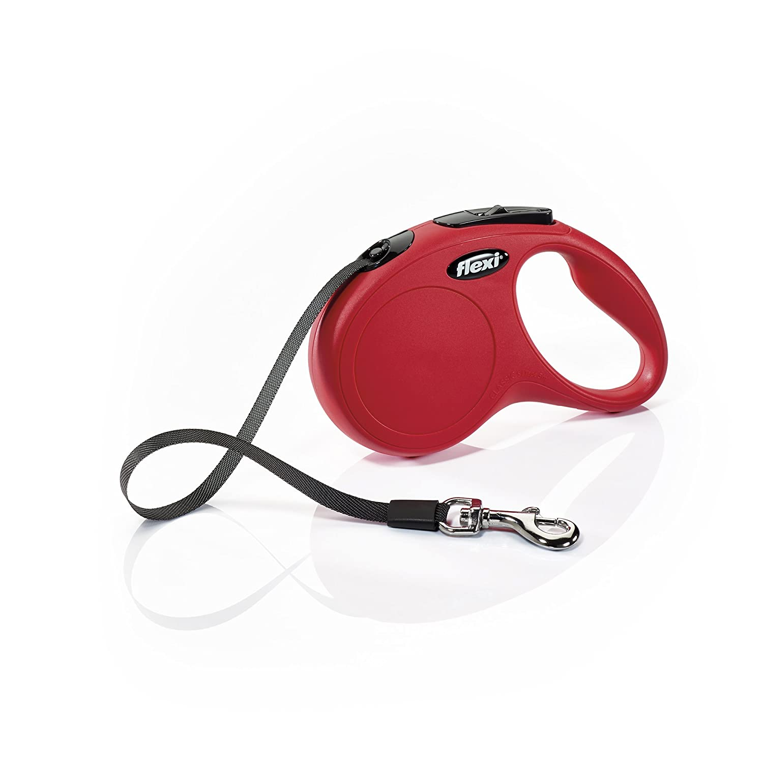 Red Small, 16 ft Red Small, 16 ft Flexi New Classic Retractable Dog Leash (Tape), 16 ft, Small, Red