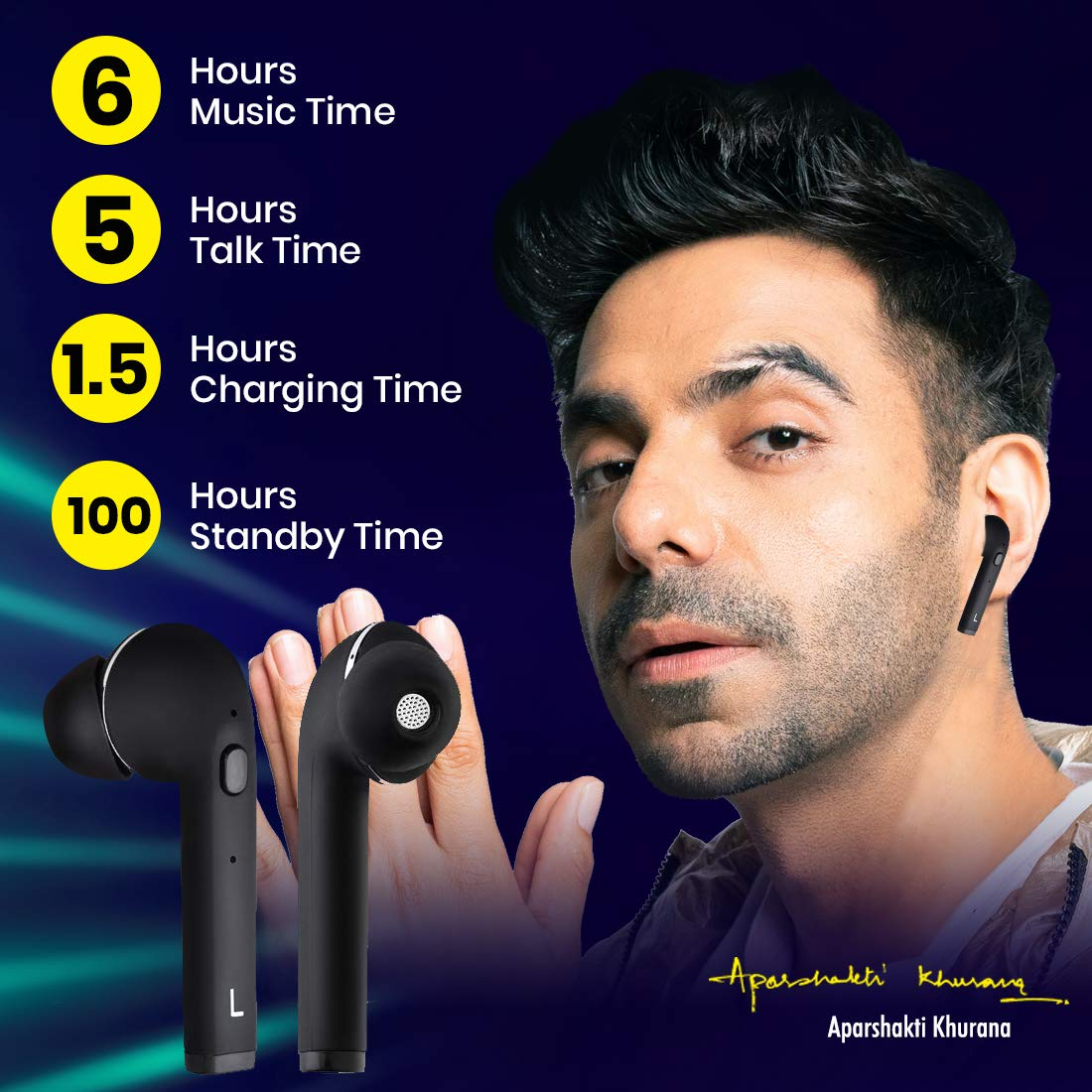 pTron Bassbuds Lite v2 IN-Ear True wireless - Best Phones under 15000