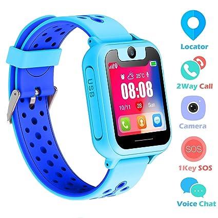 Amazon.com: Reloj inteligente para niños, LBS/GPS, reloj ...
