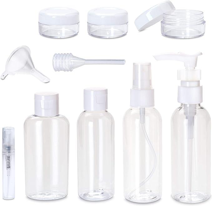 Cylindre en plastique Sans BPA 1 litre Lot de 3 flacons /à pompe vides pour shampoing
