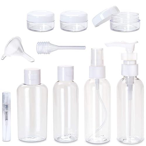 Set Botellas de Viaje – 8 Envases con Bolsa de Mano 1 litros para Líquidos (