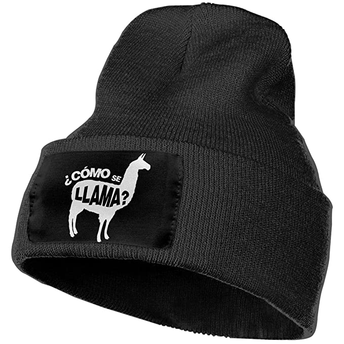 db3632e279e Como Se Llama Pun Funny Humor Joke Unisex Adult Beanie Hats Knit Cap Winter  Outdoor Fashion Slouchy Warm Caps Black at Amazon Men s Clothing store