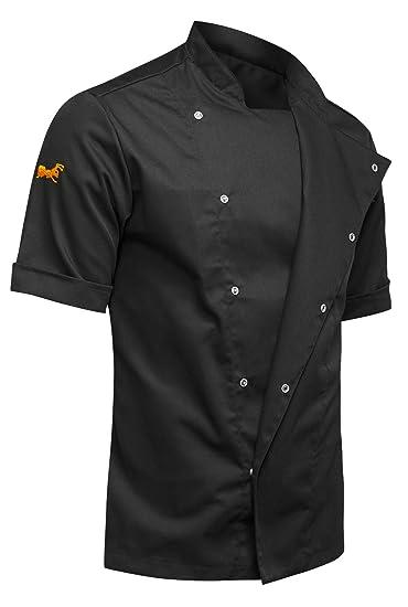strongAnt® - Chaqueta Cocinero de Manga Corta. Uniforme de Chef ...