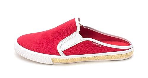 Tommy Hilfiger - Mocasines de Sint tico para Mujer Blanco Blanco/US Frauen, Color, Talla 40 EU/9 US Frauen: Amazon.es: Zapatos y complementos