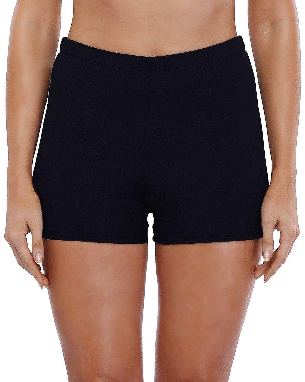 ATTRACO Womens Colour Block Swim Shorts Boyshorts Beach Bottoms Swimming Short