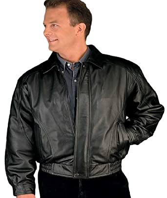 84e613b5864f Amazon.com  REED Men s American Style Bomber Genuine Leather Jacket ...