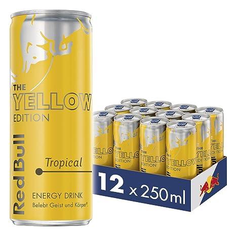 Red Bull Energy Drink Tropical 12 x 250 ml Dosen Getränke Yellow ...