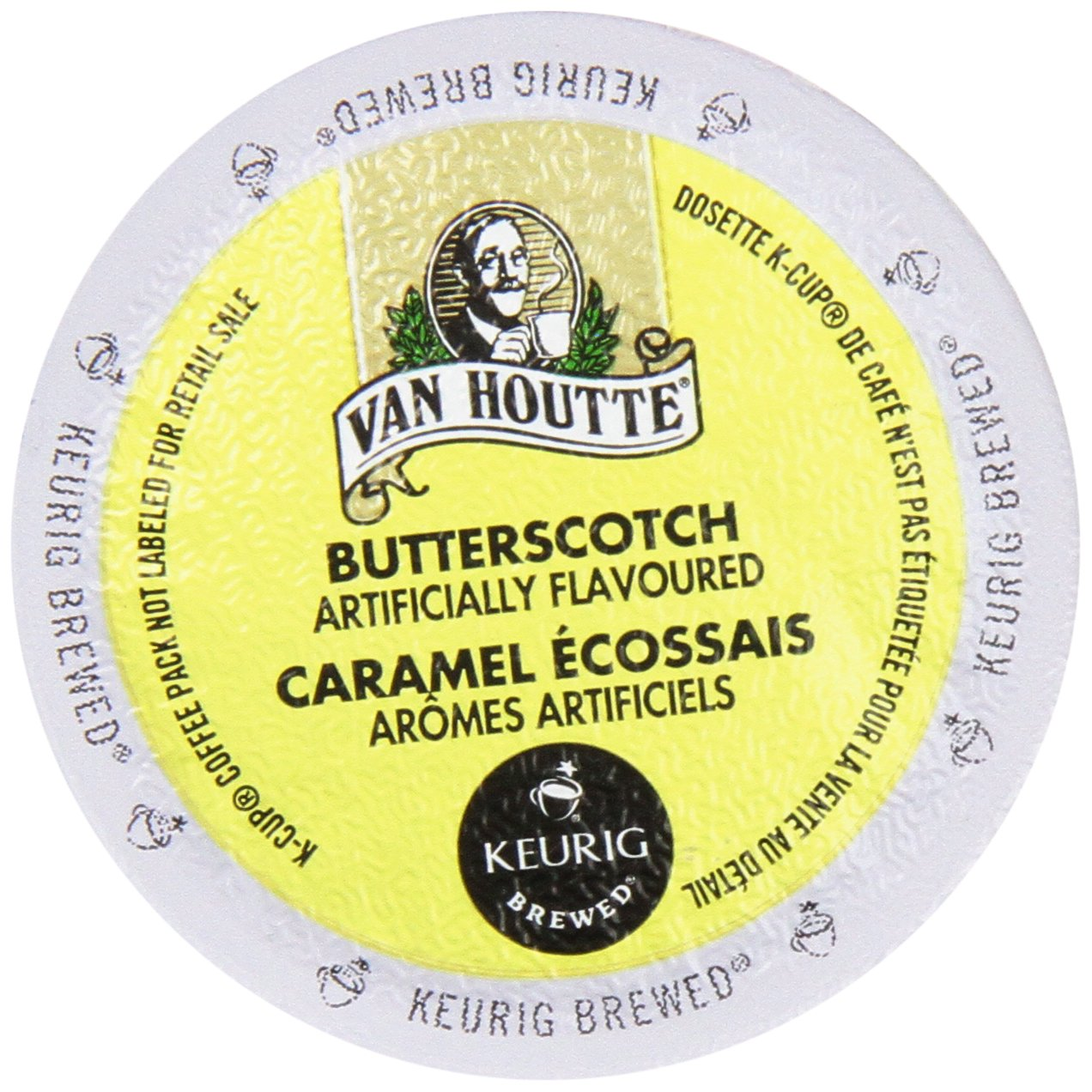 Van Houtte FLAVORED Coffee * BUTTERSCOTCH Caramel * Light Roast - includes 24 K-Cups for Keurig Brewers