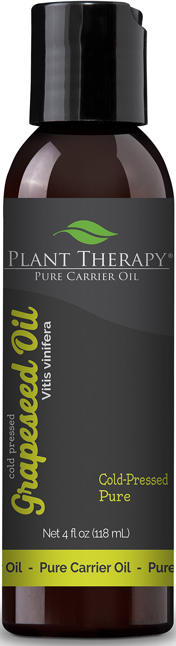 Plant Therapy Grapeseed Carrier Oil. A Base Oil for Aromatherapy, Essential Oil or Massage use. 4 oz.