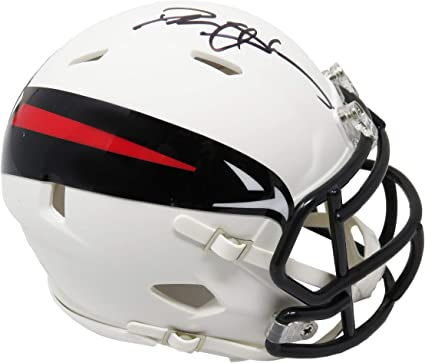 Deion Sanders Atlanta Falcons Signed Autograph Mini Helmet Steiner Sports Certified