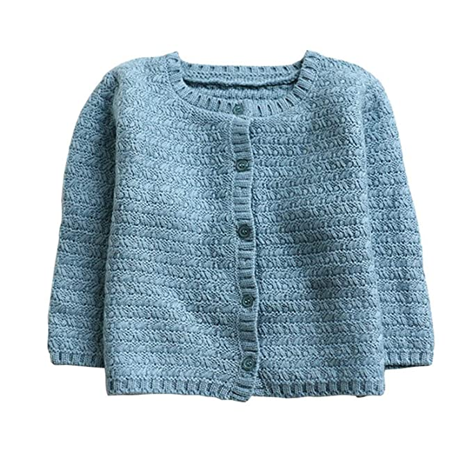270092fba Amazon.com  Huainsta Sweater Coat Long Sleeve Toddler Baby Knitted ...