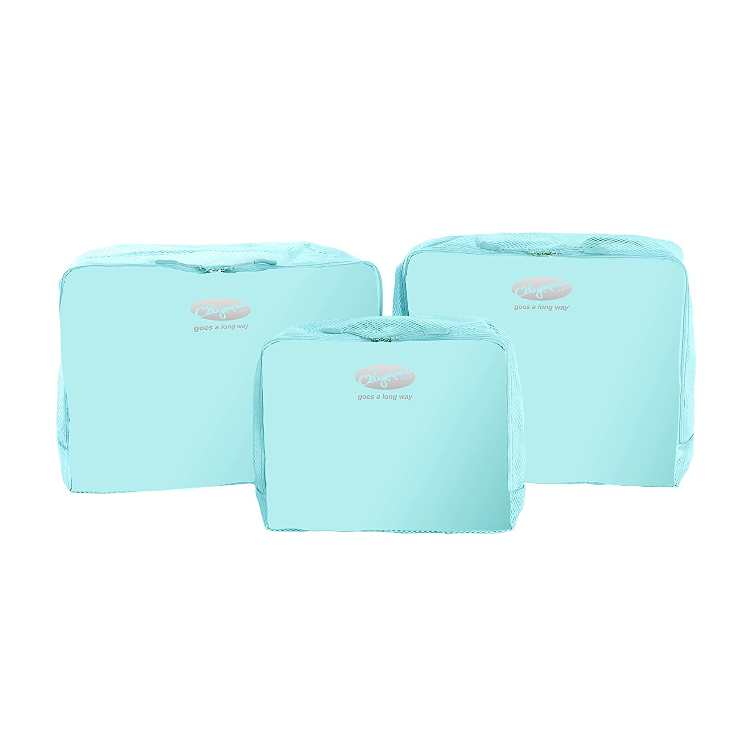 Olympia 3 Piece Packing Pouch Set, Mint, One Size good