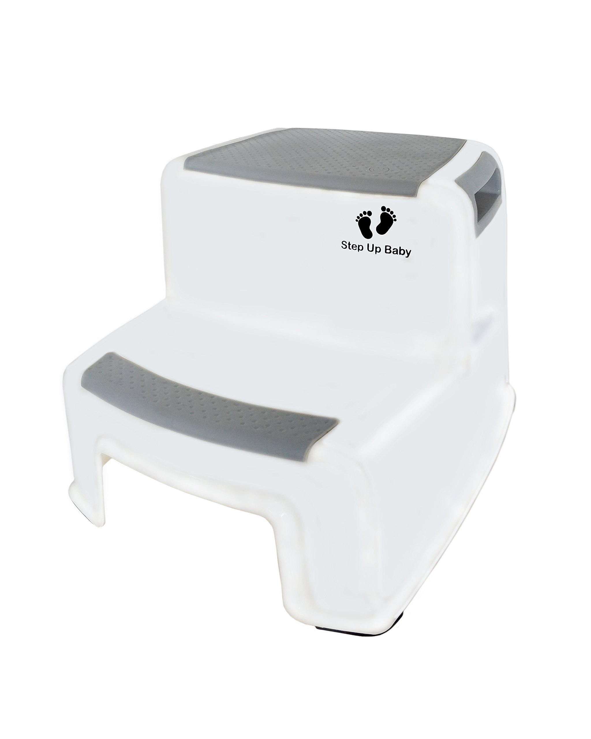 Dual Height Step Stool For Toddlers By Step Up Baby: Potty Training Two-Level Stepping Stool For Kids - Multipurpose Two-Step Stool With Anti-Slip Pads - Sturdy Bathroom And Kitchen Step Stool