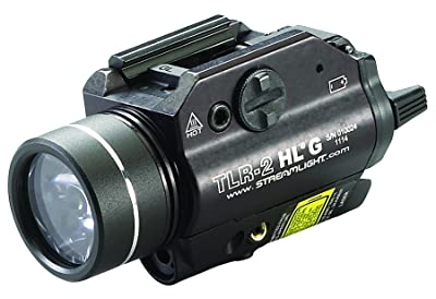 Streamlight 69265 TLR-2 High Lumen G Rail Mounted Flashlight 800 Lumens with Green Laser, Black