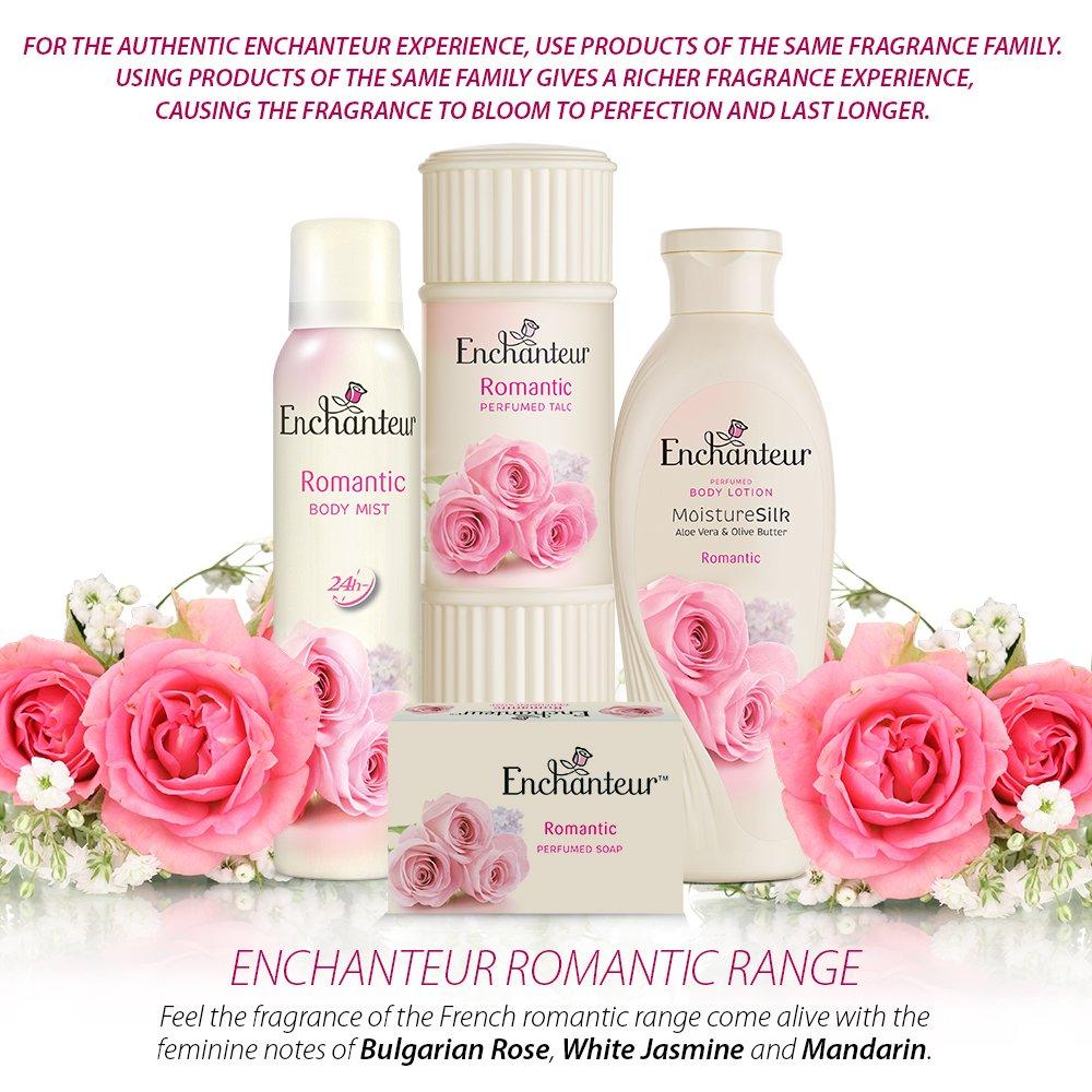Enchanteur Body Mist Romantic 150ml Beauty Perfumed Talc Alluring 200a