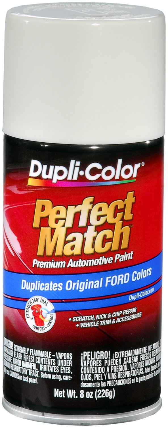 Dupli-Color EBFM03847-6 PK Pure White Ford Exact-Match Automotive Paint - 8 oz. Aerosol, (Case of 6)