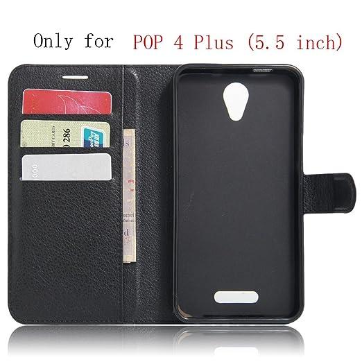 7 opinioni per Alcatel pop 4 plus Wallet Cover, SMTR Custodia In Pelle Con Wallet Case Cover