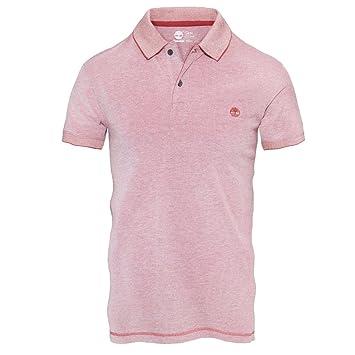 46289152 Millers River – Short Sleeve Oxford Polo Shirt Men Timberland, pink, XXL