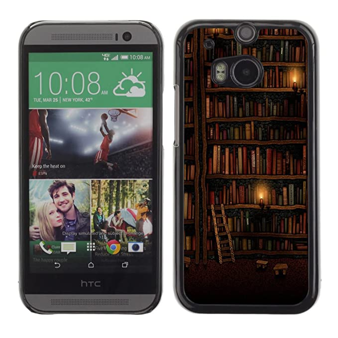 Htc One M8 Bookcase.Qcase Htc One M8 Bookshelf Library Wall Ladder Art