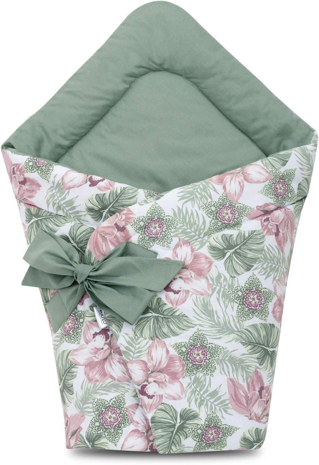 Mantita para bebés recién nacidos, hecha con algodón suave al 100 % y en forma vertical floral