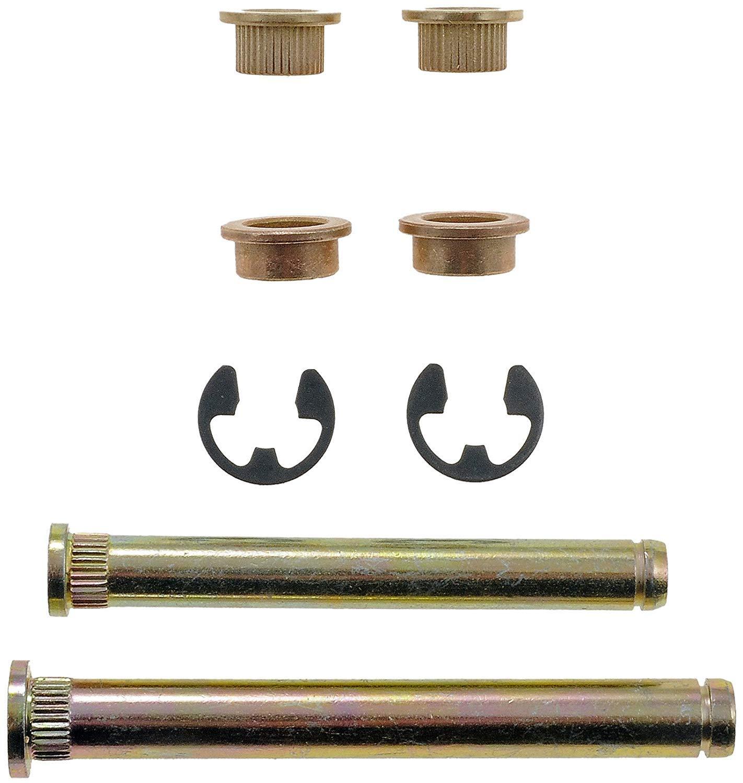 2 Pins APDTY 49534 Door Hinge Pin And Bushing Kit 4 Bushings And 2 Clip