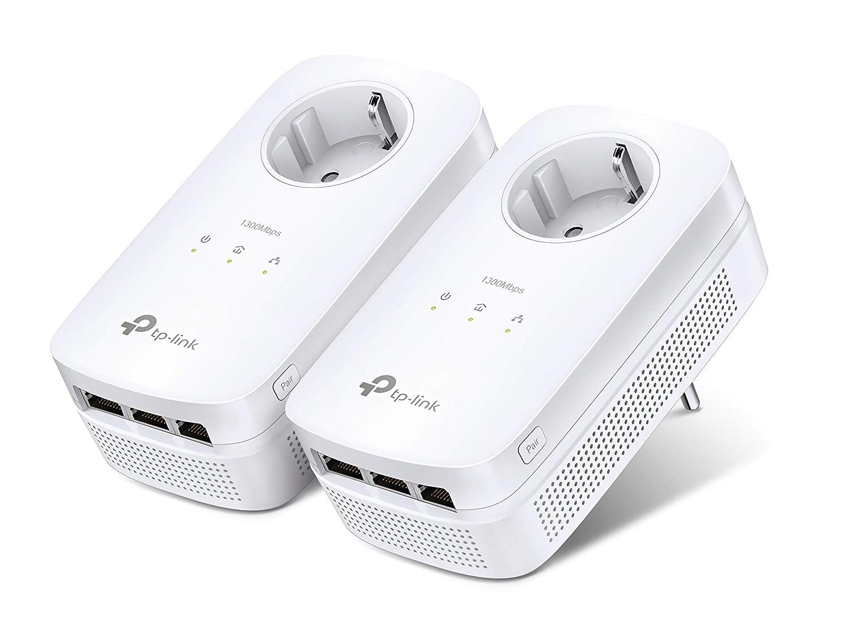 bis 2000 MBit//s, 10//100//1000Mbp TP-Link TL-PA8030P KIT Powerline Adapter wei/ß /& TL-SG105 5-Port Gigabit Netzwerk Switch 1300Mbit//s Steckdose Powerline, 3x Gigabit Port blau metallic