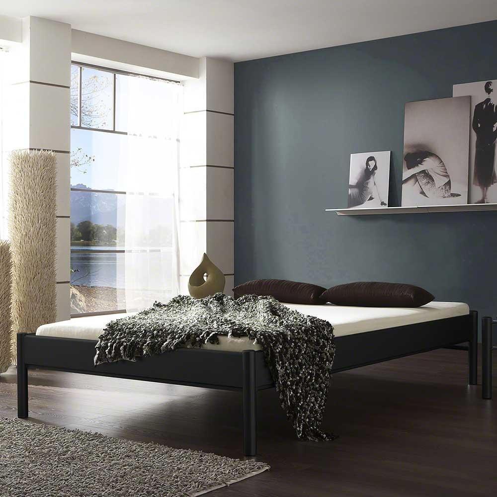 Pharao24 Jugendbett in Schwarz Eisen ohne Kopfteil Ausführung 7