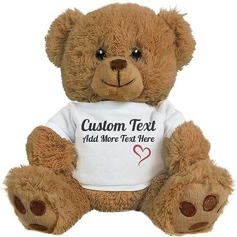 b0051d212188 Amazon.com: Cute Custom Teddy Bear Gift: 8 Inch Teddy Bear Stuffed Animal:  Toys & Games
