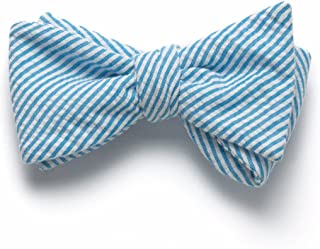 product image for Seersucker Bow Tie- Turquoise