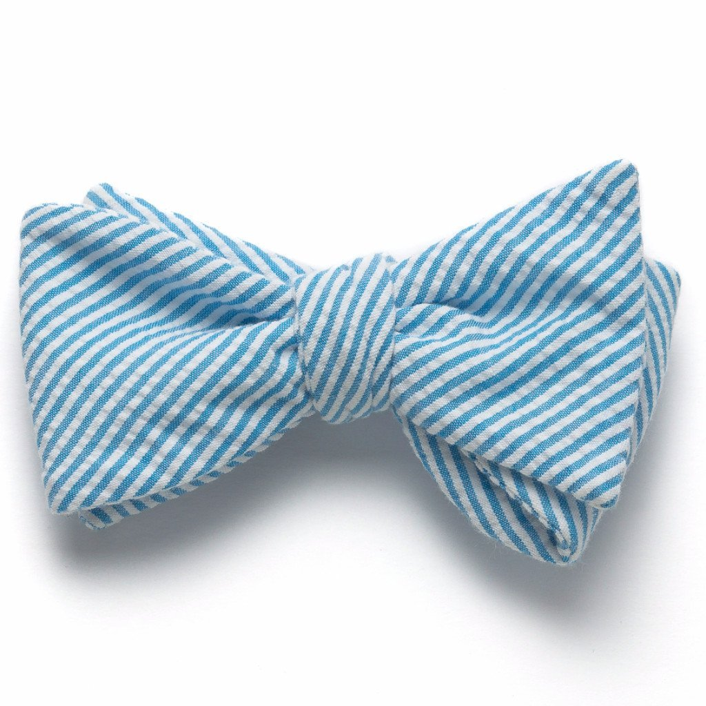 3af691062cf3 Seersucker Bow Tie- Turquoise at Amazon Men's Clothing store: