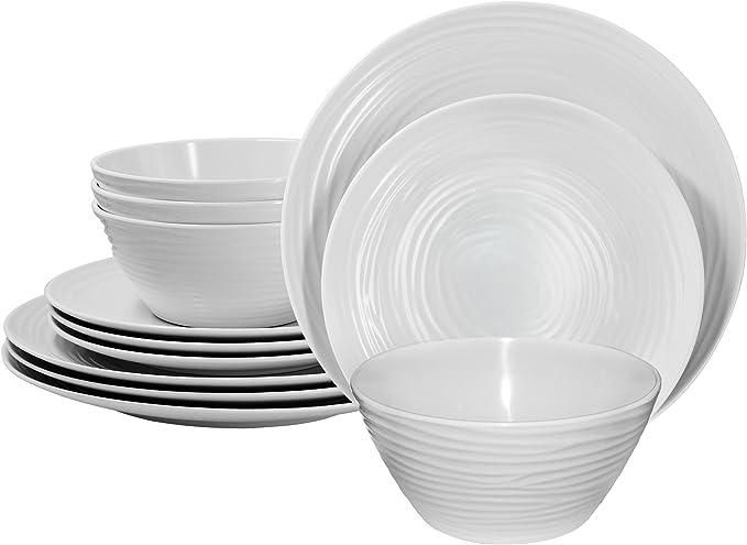 Set of 2 Cartoon 41cm Home Farm Melamine Plastic Food Drink Dinner Serving Trays