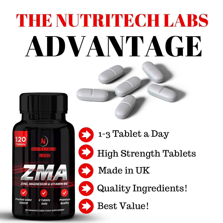 ZMA- Suplemento zinc, magnesio y vitamina B6- Triple Concentración 2500 mg- Aumenta los niveles de testosterona, promueve fuerza del músculo, recuperación, ...