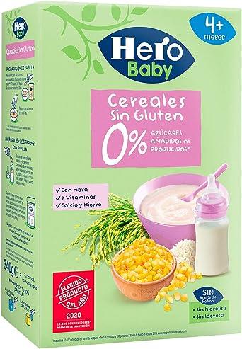 Hero Baby Papilla Cereales sin Gluten para Bebés A Partir 4 ...