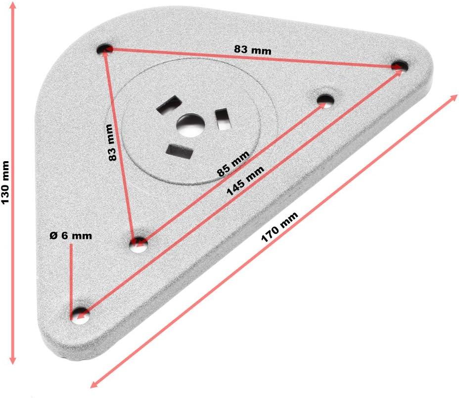 Juego 4 Patas Pies Acero Inoxidable Cromo Mesa Mueble Adjustable Regulable Altura /Ø60mm 820mm