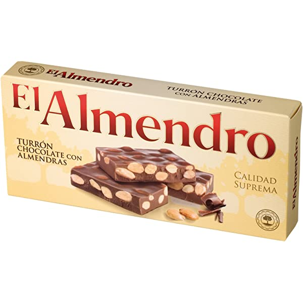 El Almendro Turrón Chocolate con Almendras - 200 gr: Amazon.es ...