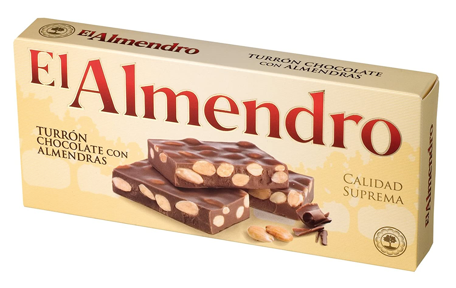 Amazon.com : El Almendro Turron Chocolate con Almendras (200g) - Milk chocolate with roasted almonds : Grocery & Gourmet Food