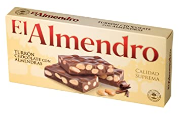 El Almendro Turron Chocolate con Almendras (200g) - Milk chocolate with roasted almonds