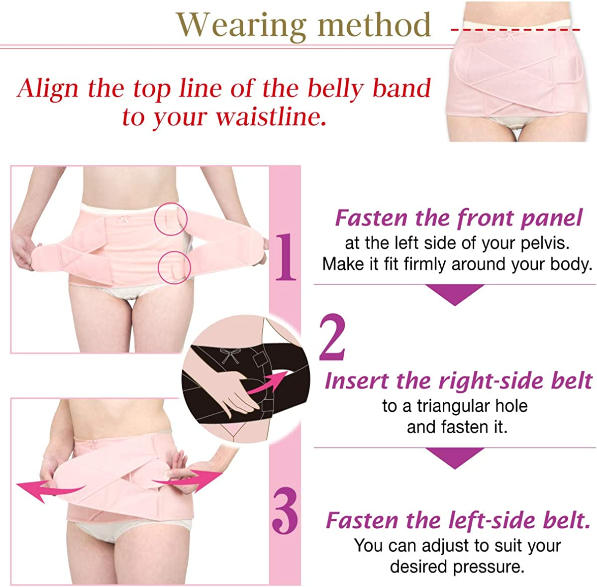 FUN fun Inujirushi Honpo Pregnancy Postpartum Belly Band Pelvis Correction Belt S-3054