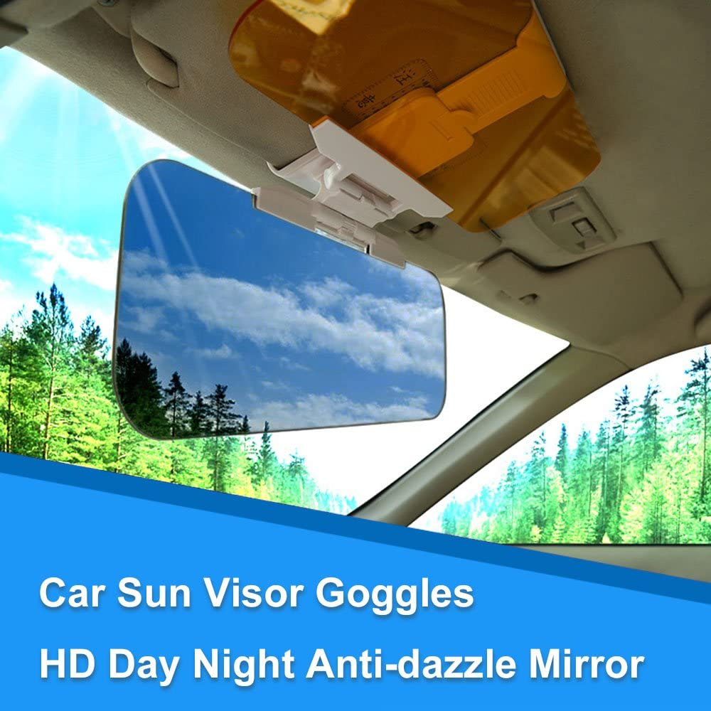 KKmoon Car Sun Visor Goggles HD Day Night Anti-dazzle Mirror
