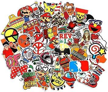 Cool Stickers Pack 100 Piezas 6 Series Pegatinas de Vinilo para Coche, Motocicleta, Bicicleta, Equipaje, Parches de Graffiti, Pegatinas de monopatín para portátil para niños y Adultos: Amazon.es: Electrónica